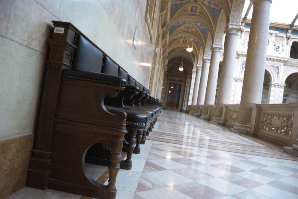 krużganek pałac sprawiedliwości wiedeń justiz palast balans 1600