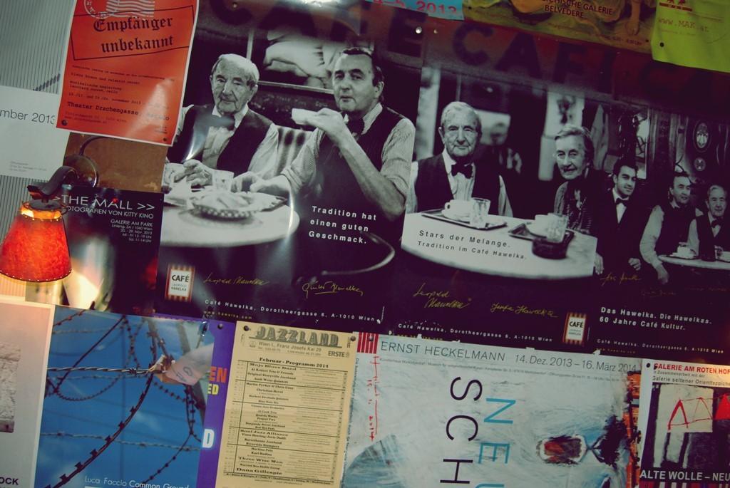 cafe hawelka wien plakat