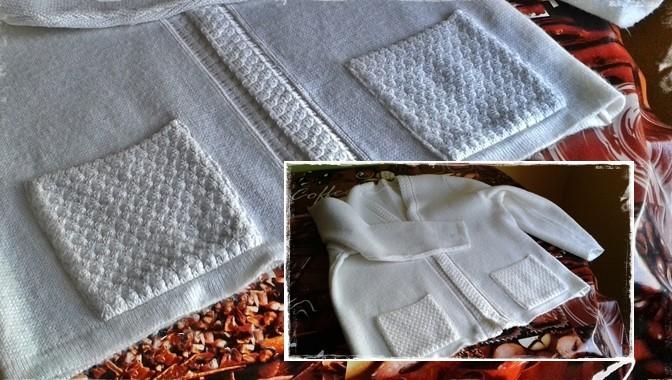 sweterek na poduszkę