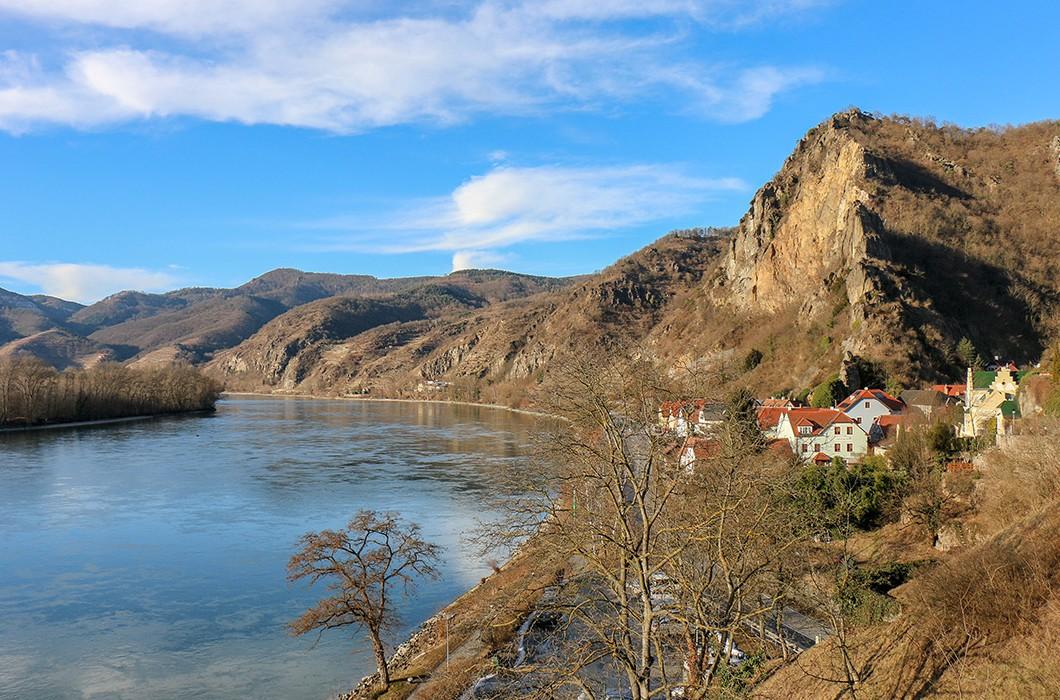 Durnstein, panorama na Dunaj