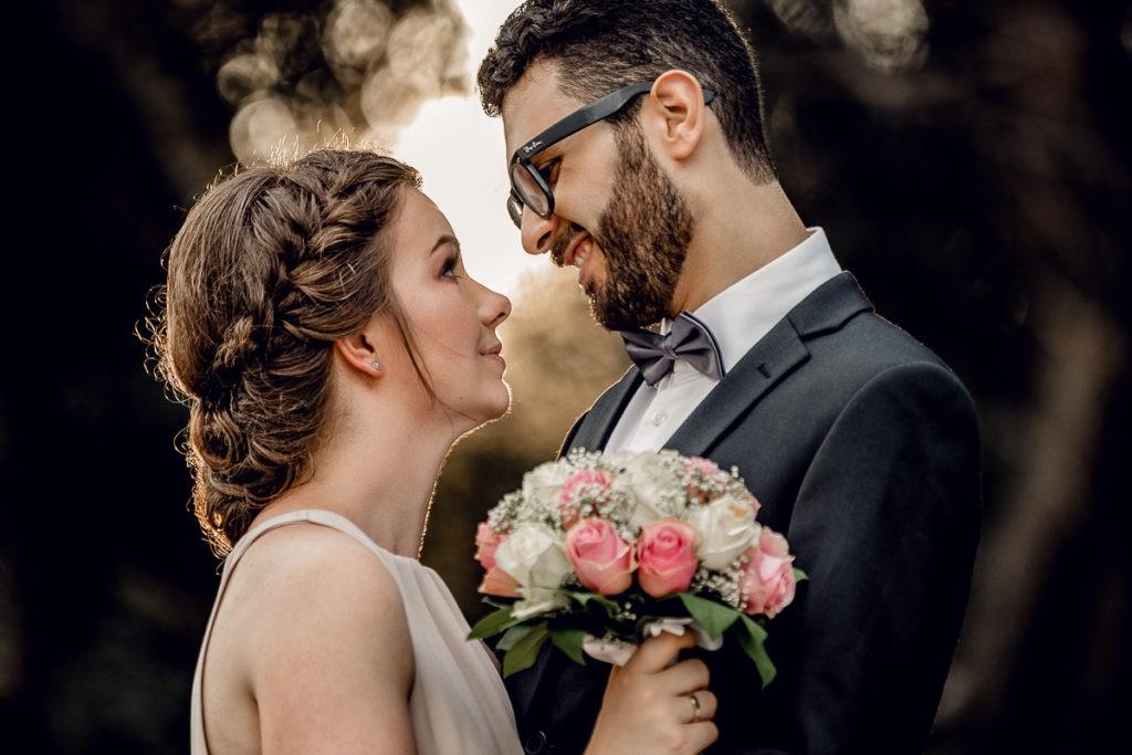 zakochani małżonkowie, ślubne zdjęcie, Martin Ignatowicz